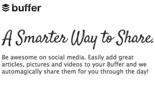 「Buffer」好きな時間にTwitterやFacebookへ予約投稿できる便利サービス!