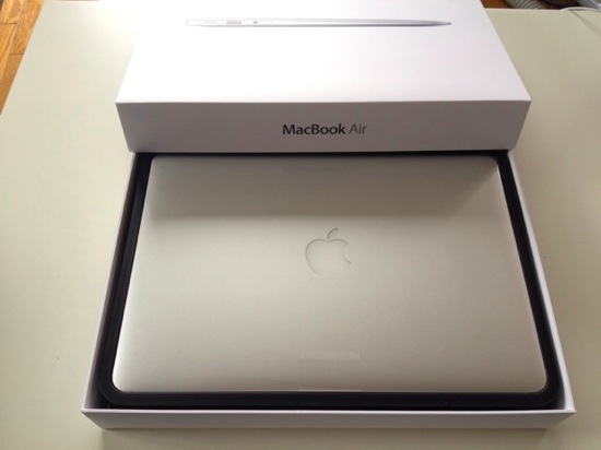 Macbook air 13inch arrive 5