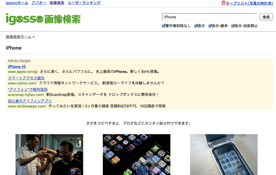 Safari customsearch 10