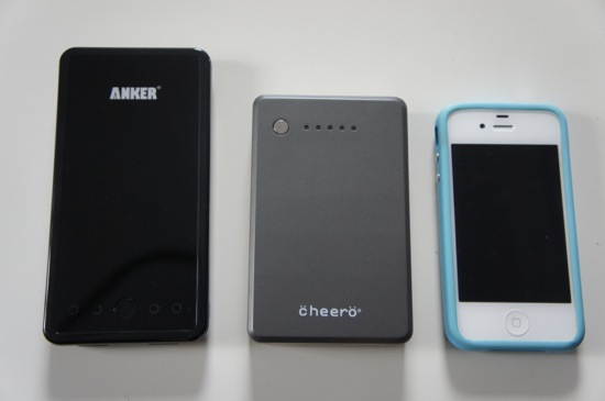 Battery comparison between cheero and anker 1