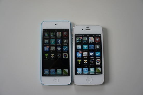 Ipod touch and iphone4s appearance comparison 1