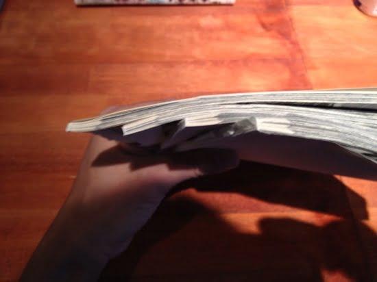 Procedure of cutting books with carl dc 210n 10