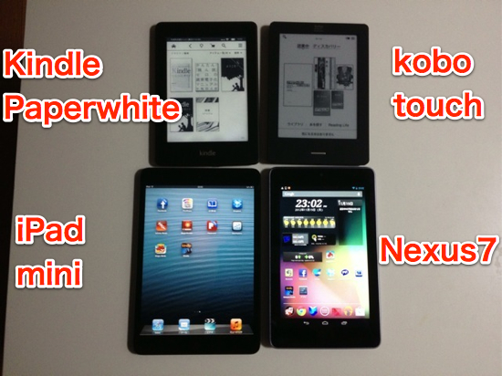 Kindle paperwhite and other devices comparison 1