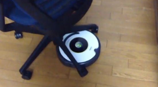 Roomba dancing with chair 1