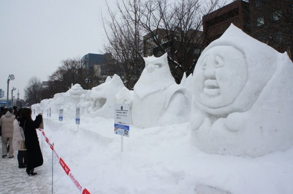 Snowfestival in sapporo odori 1