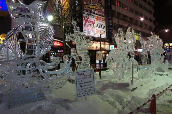 Snowfestival in sapporo susukino 14