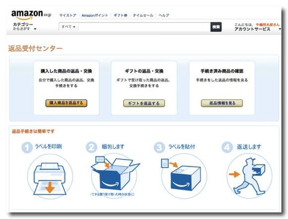 Amazon return goods 1