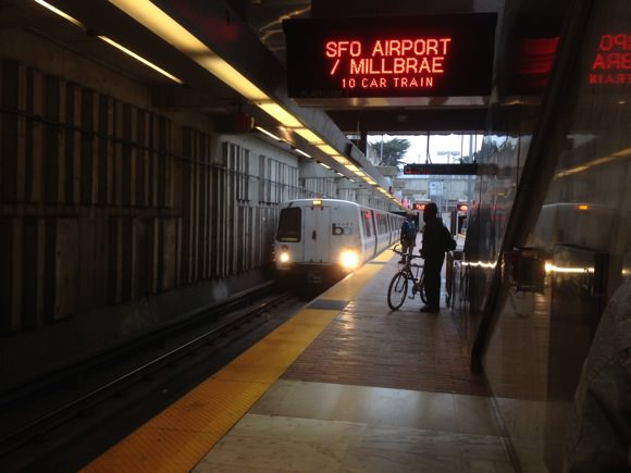 How to board san francisco bart 8