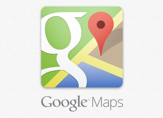 Google map on foot title