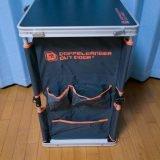 アウトドア用折りたたみキッチンテーブルが、移動可能なデスクとしても使えそうで良い感じ!