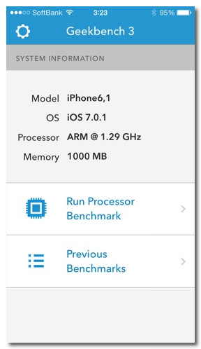 Iphone 5s 4s ipodtouch benchmark 3