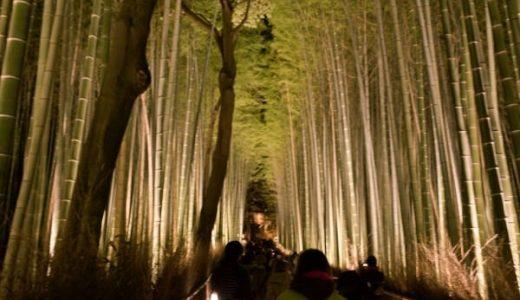嵐山の竹林やお寺が美しくライトアップされる、京都の「嵐山花灯路」に行ってきた