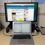 BenQの24型ディスプレイをMacBookに接続、台に乗せ縦デュアル利用!しかも全部合わせて約2万円で済む。