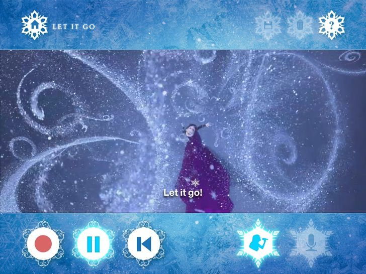 Ipad frozen let it go 9