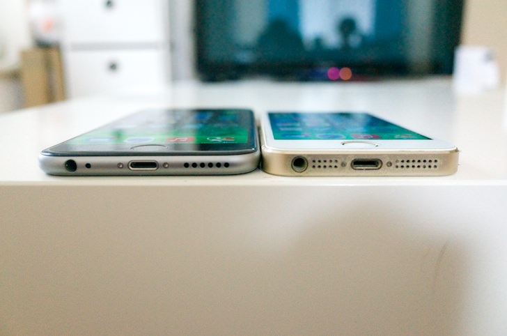 Comparison between iphone6 and 5s 2