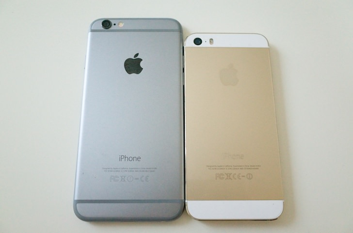 Comparison between iphone6 and 5s 7