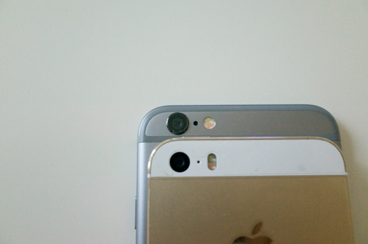 Comparison between iphone6 and 5s 8