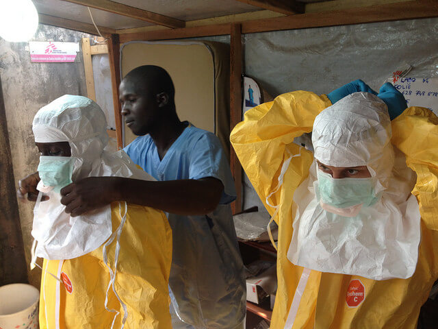 Ebola hemorrhagic fever prevention title