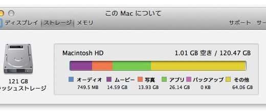 Macのディスクを「その他」が圧迫する1原因とその解決方法。空き容量がグッと増えて驚いた!