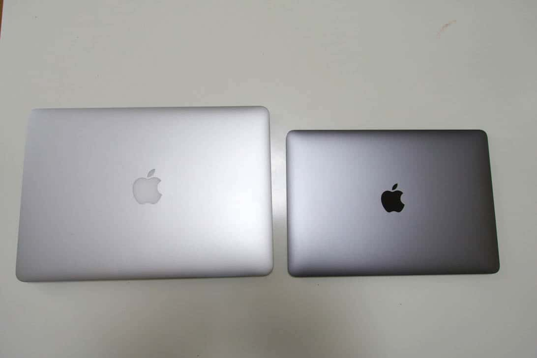Comparison between new macbook and air 1