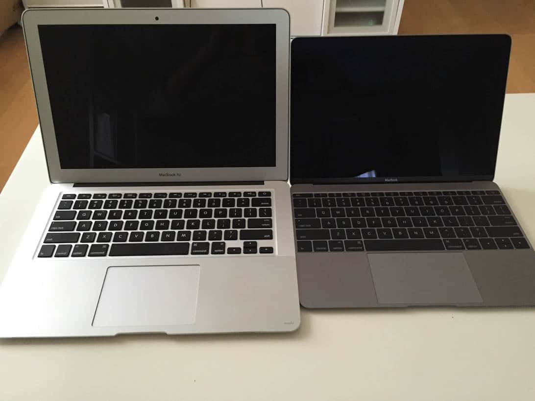 Comparison between new macbook and air 8