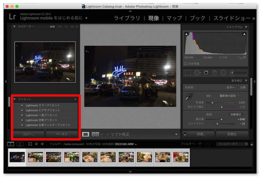 Lightroom raw photo develop easily 4