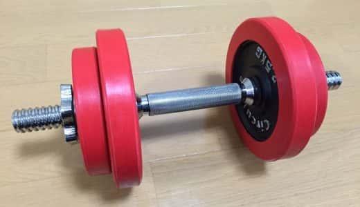室内で効果的な筋力トレーニングをするため、ラバーダンベルセットを買ったよ。落としても音がしにくい!