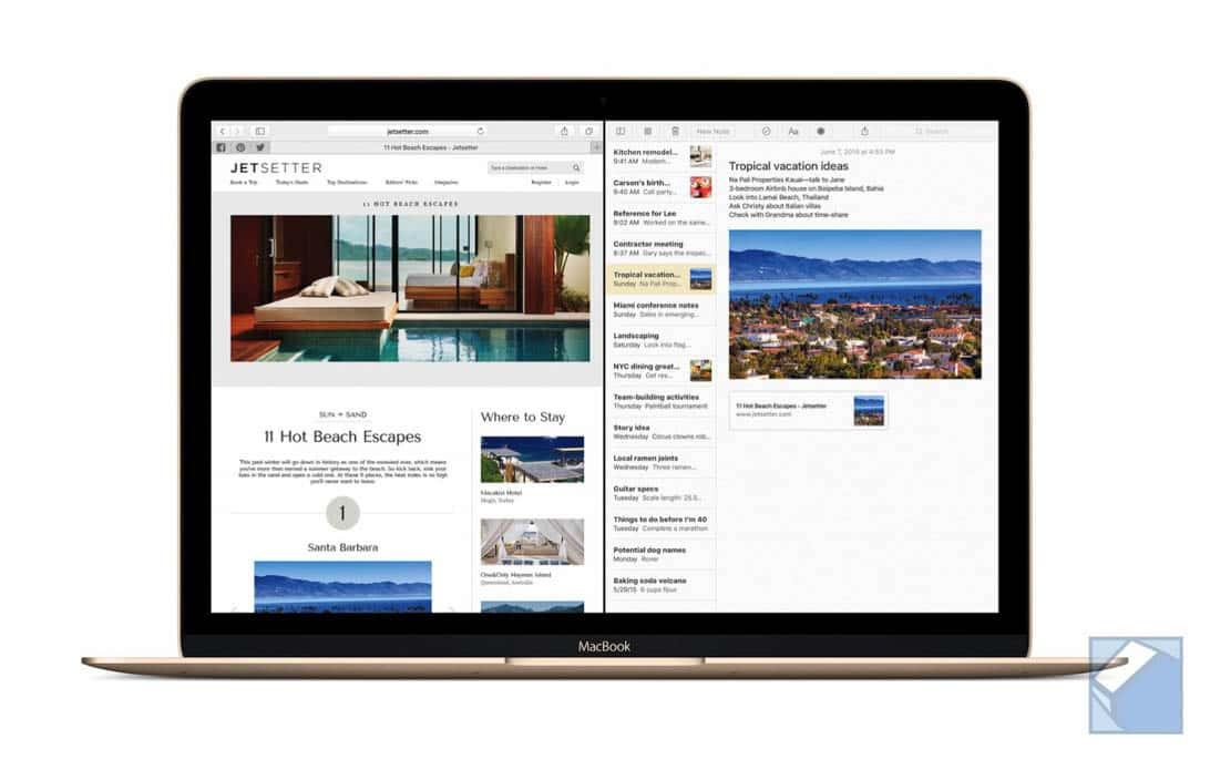MacBook ElCapitan SafariNotes PRINT