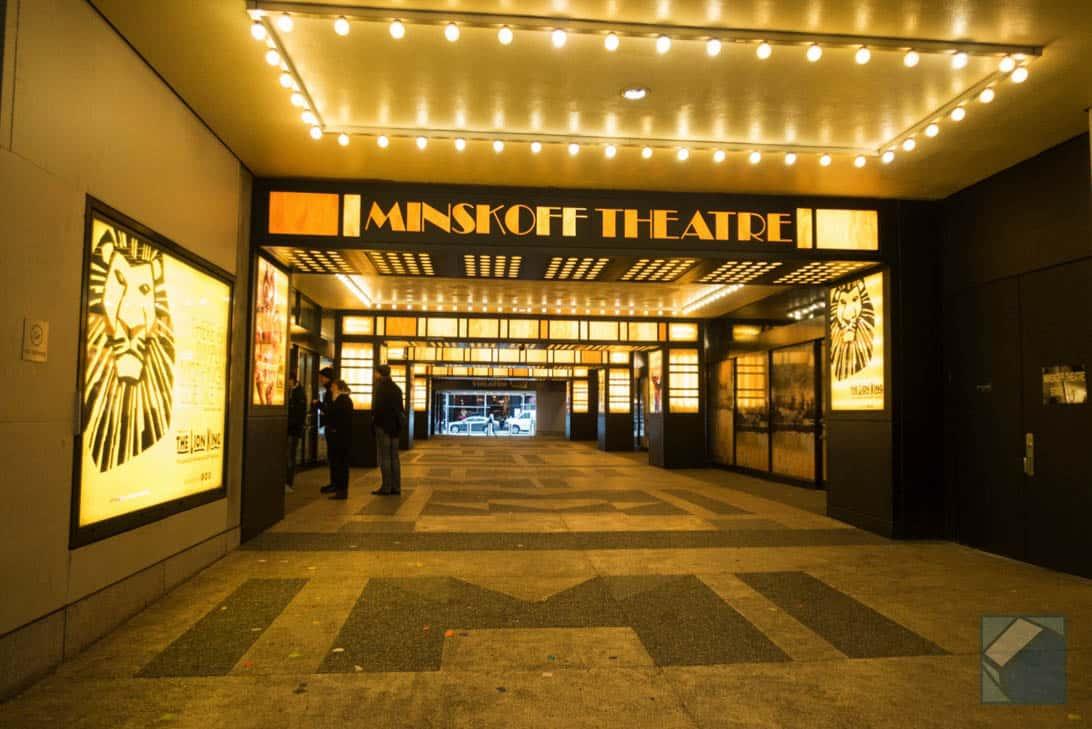 ニューヨーク・ブロードウェイでミュージカル(ライオンキング)見てきた