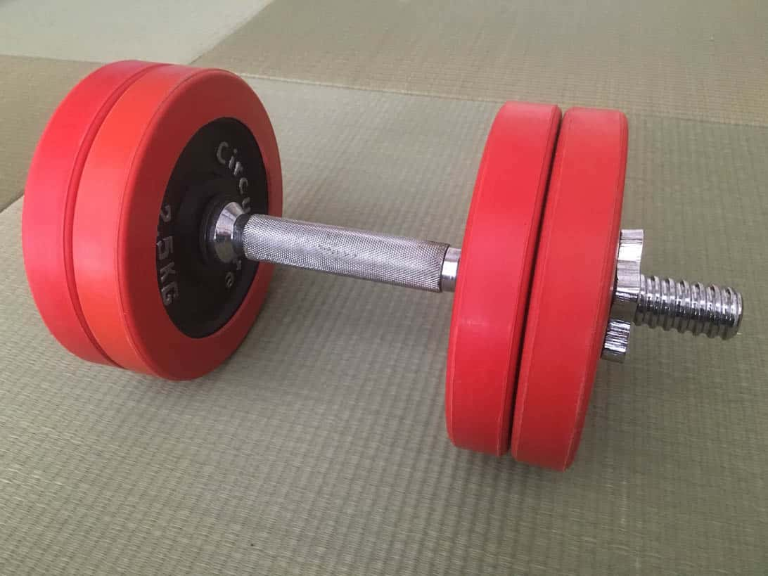 Tennis grip dumbbell 1
