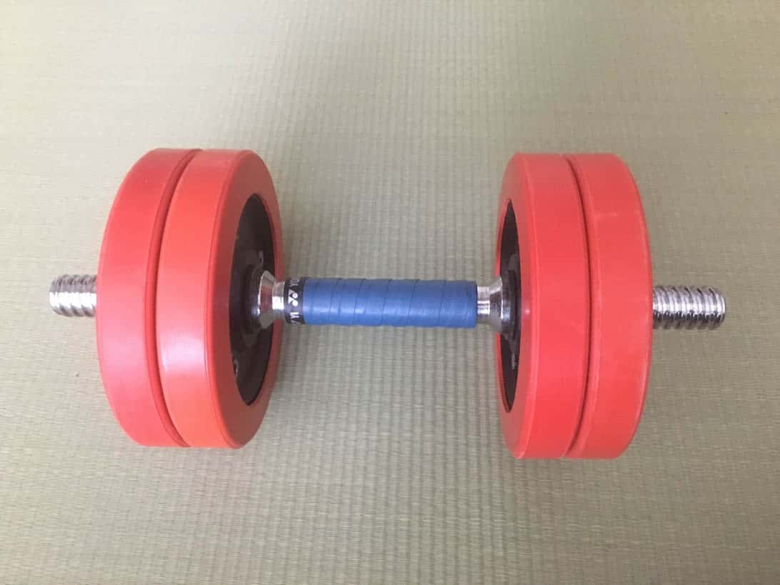 Tennis grip dumbbell 10