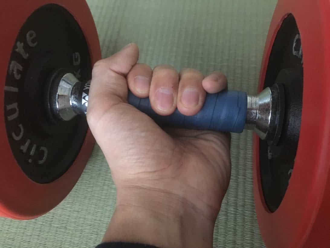 Tennis grip dumbbell 11