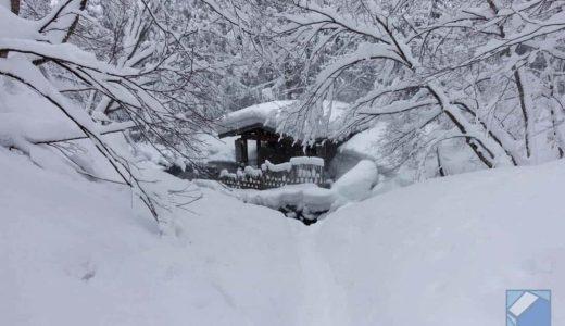 雪の中、秋田・乳頭温泉郷にて風情ある秘湯めぐり。「大釜温泉」「孫六温泉」「蟹場温泉」