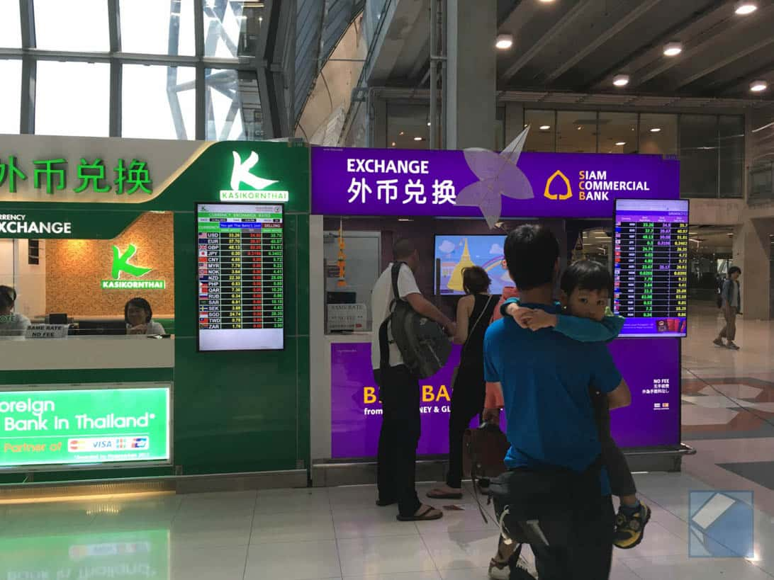 Suvarnabhumi airport sim money exchange 1