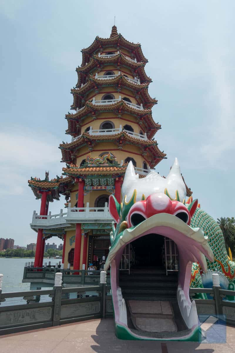 Lotus lake dragon and tiger pagodas 12
