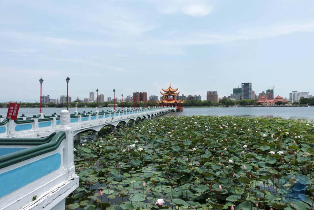 Lotus lake dragon and tiger pagodas 41