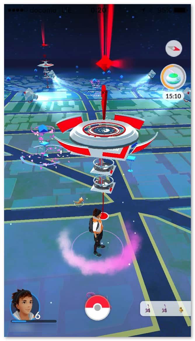 Pokemongo gym battle 1