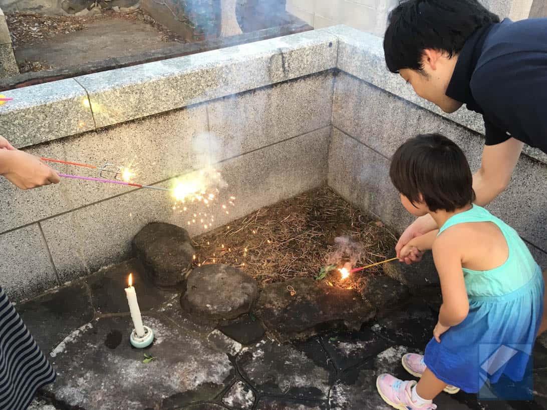 Fireworks in cemetery nagasaki 1