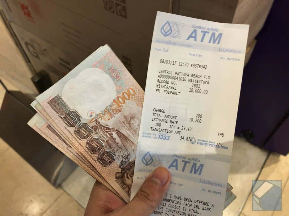 Mastercard overseas cashing thai 11