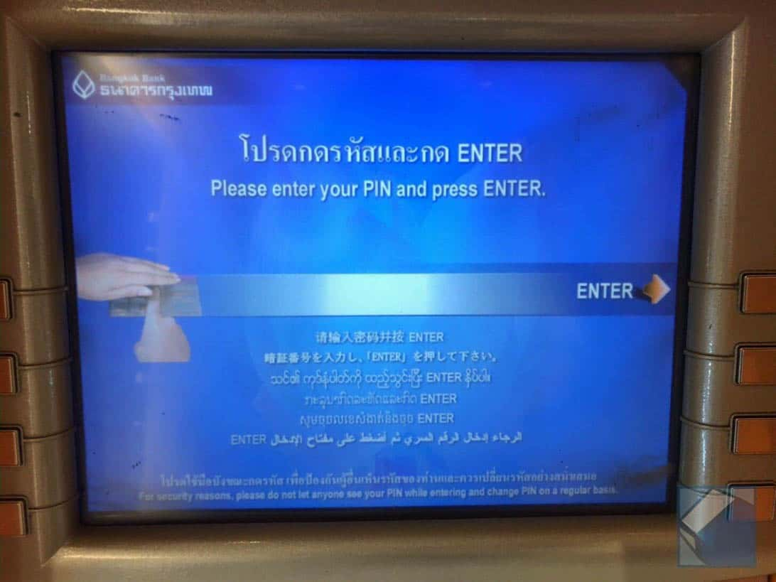 Mastercard overseas cashing thai 3