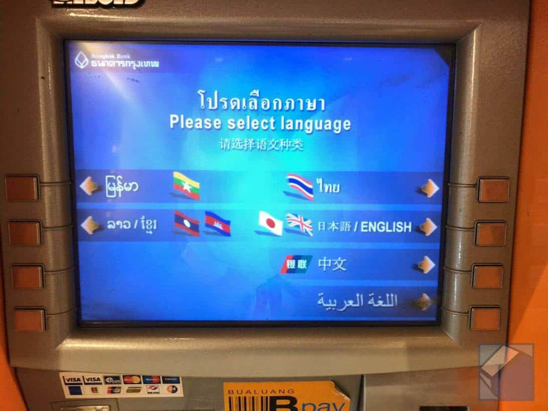 Mastercard overseas cashing thai 5