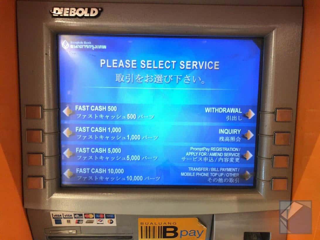 Mastercard overseas cashing thai 6