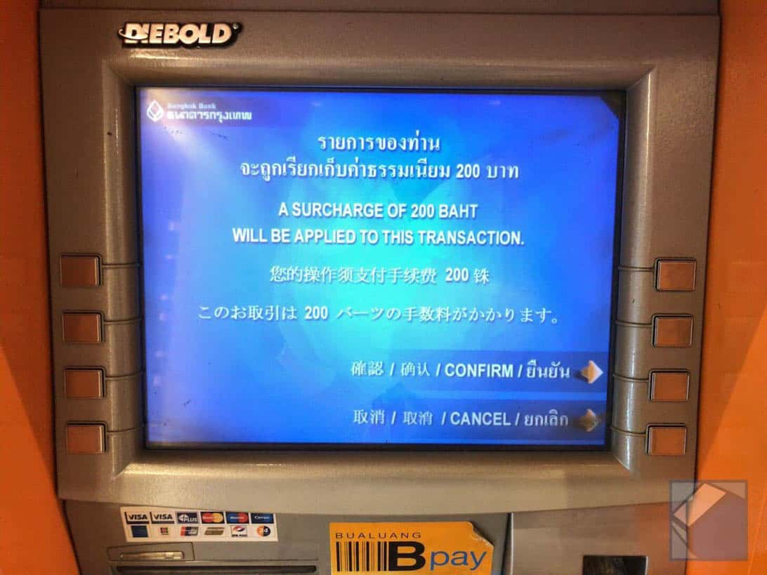 Mastercard overseas cashing thai 7