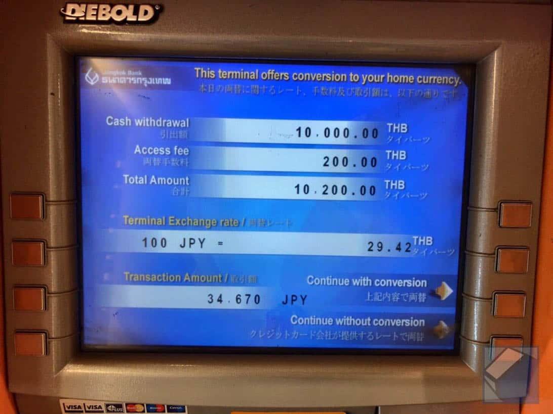 Mastercard overseas cashing thai 8