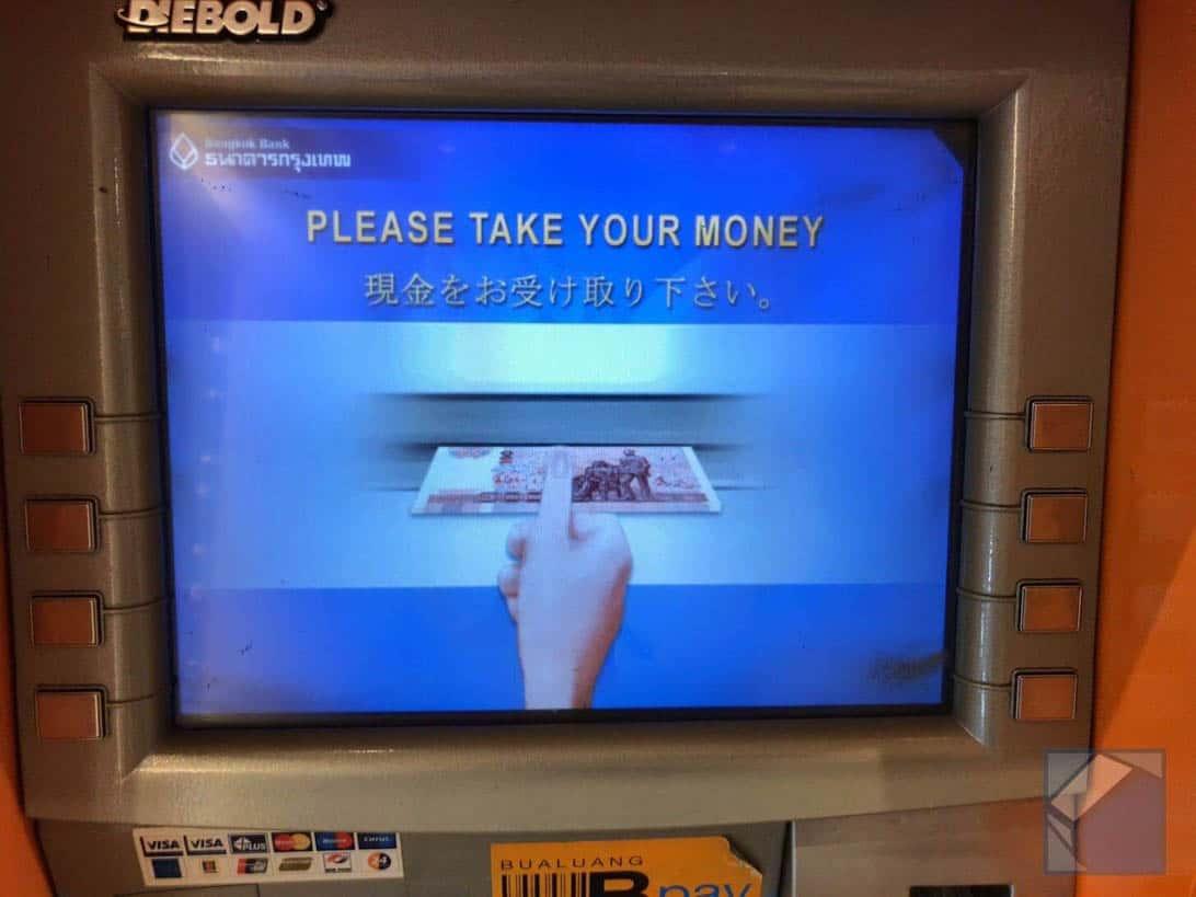 Mastercard overseas cashing thai 9