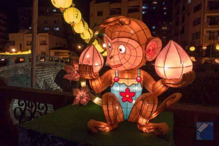 長崎ランタンフェスティバルのサル型ランタン