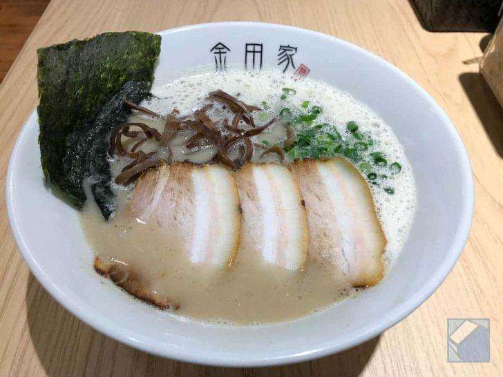 金田家博多店の豚骨ラーメン