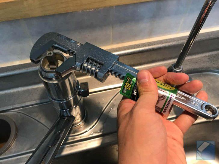 パナソニック食洗機のため分岐水栓CB-SMD6を取り付け