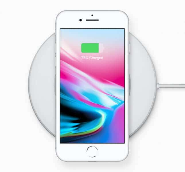 iPhone 8はワイヤレス充電可