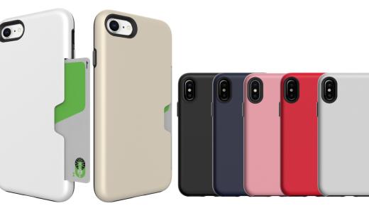 カードが入る耐衝撃iPhone 7/8/X用ケース「Golf Light」マットな質感と手ざわりも気に入った
